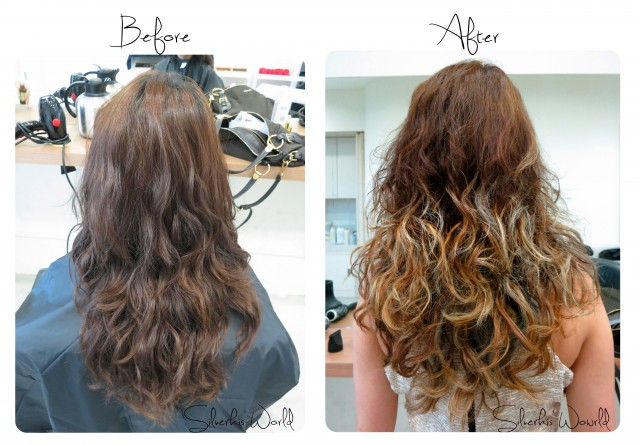 Aveda Hair before and after