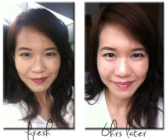 Lancome Teint Idole before after shot