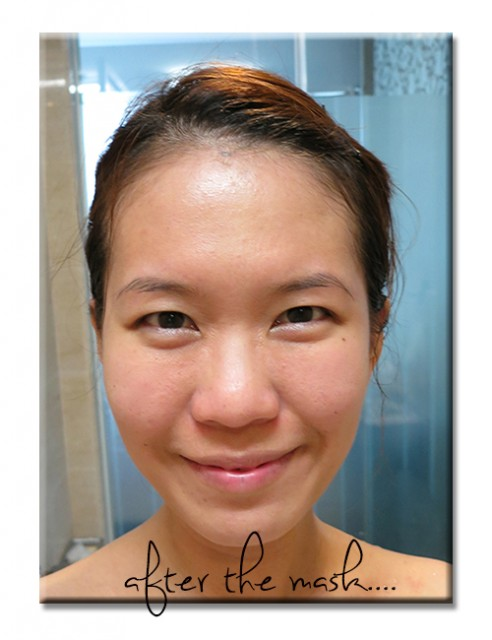 Cellilux Glacial Mineral Gel Post-effects