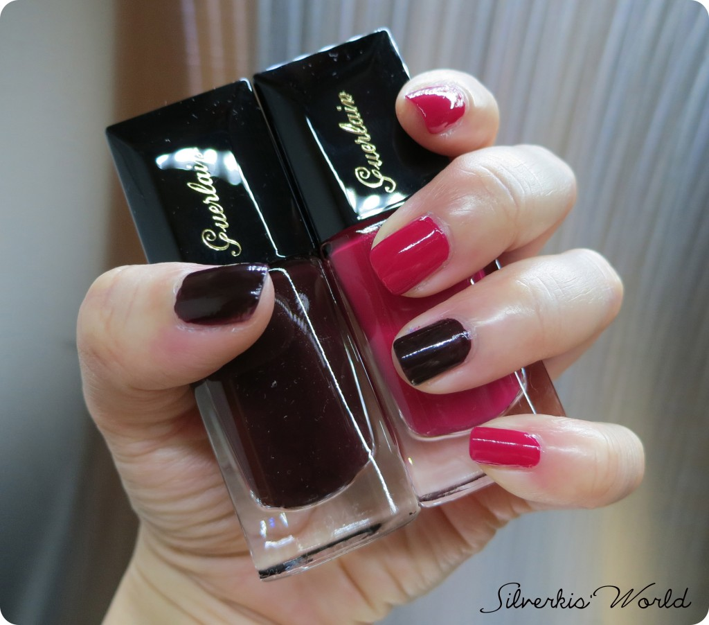 Guerlain Le Vernis Vega & Champs Elysee swatches