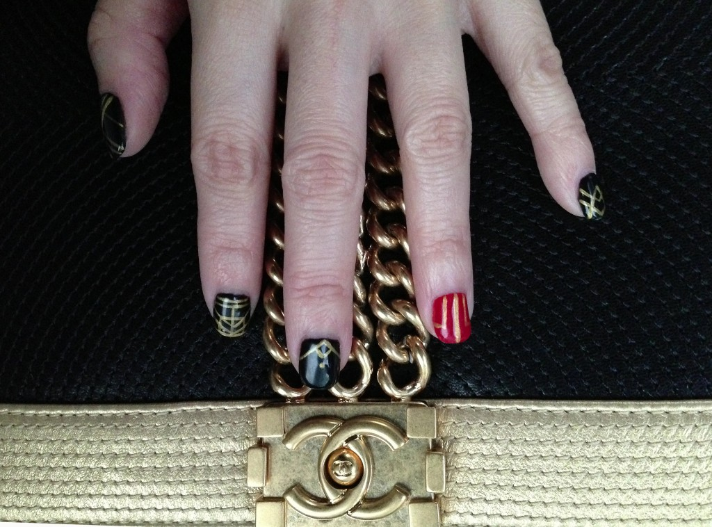 The Great Gatsby inspired manicure