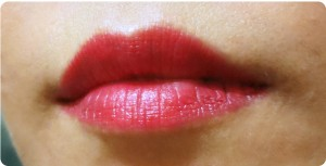 Givenchy La Rouge Egerie lip swatch