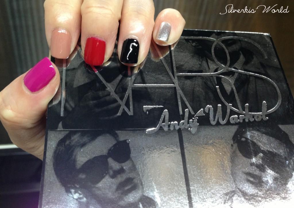 NARS x Andy Warhol Photo Booth & Beautiful Darling nail polishes swatches