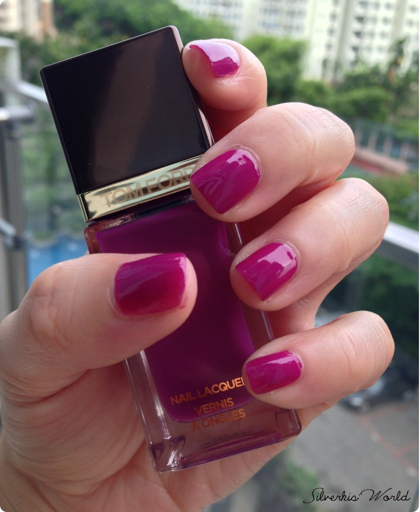 Tom Ford nail lacquer African Violet swatch