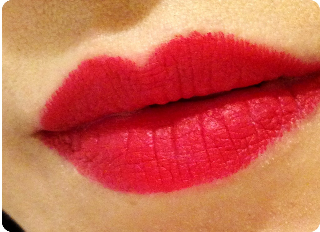 NARS Mysterious Red Velvet Matte Lip Pencil swatch