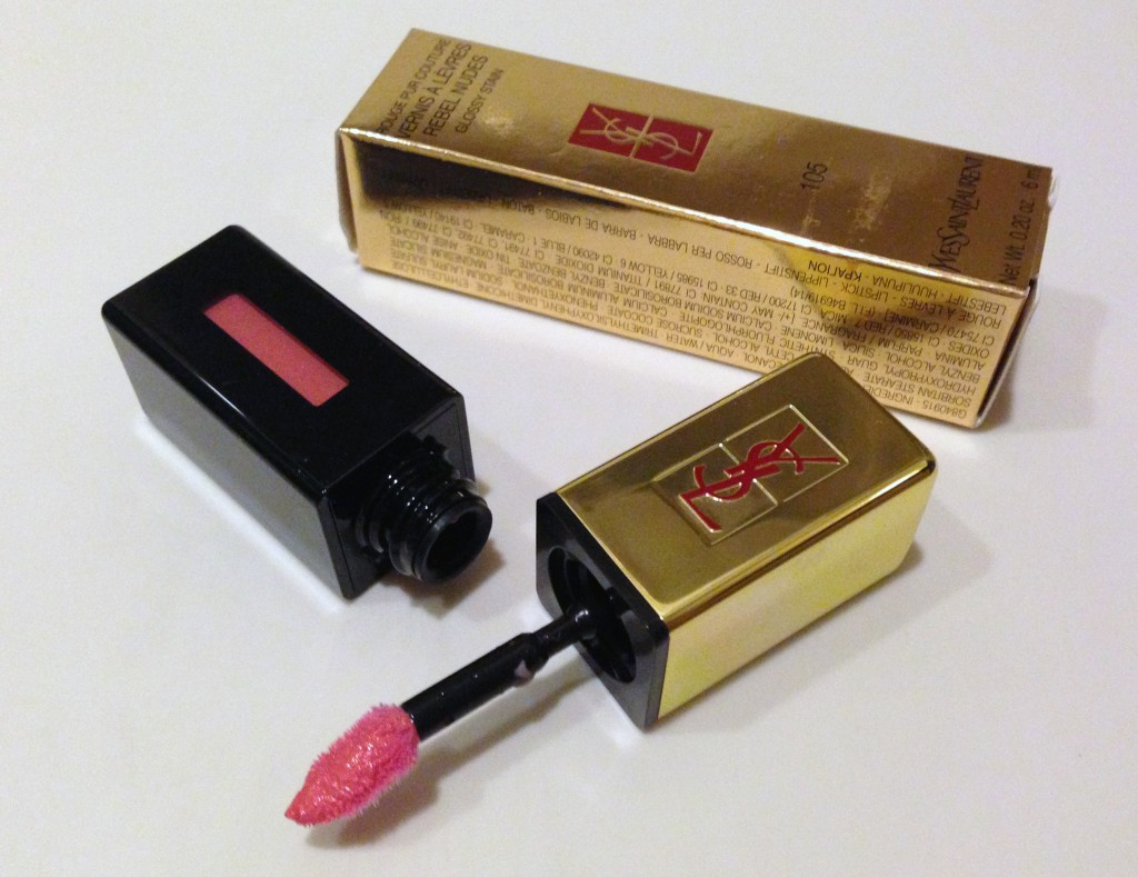 YSL Glossy Stain Rebel Nude 105 Corail Hold Up