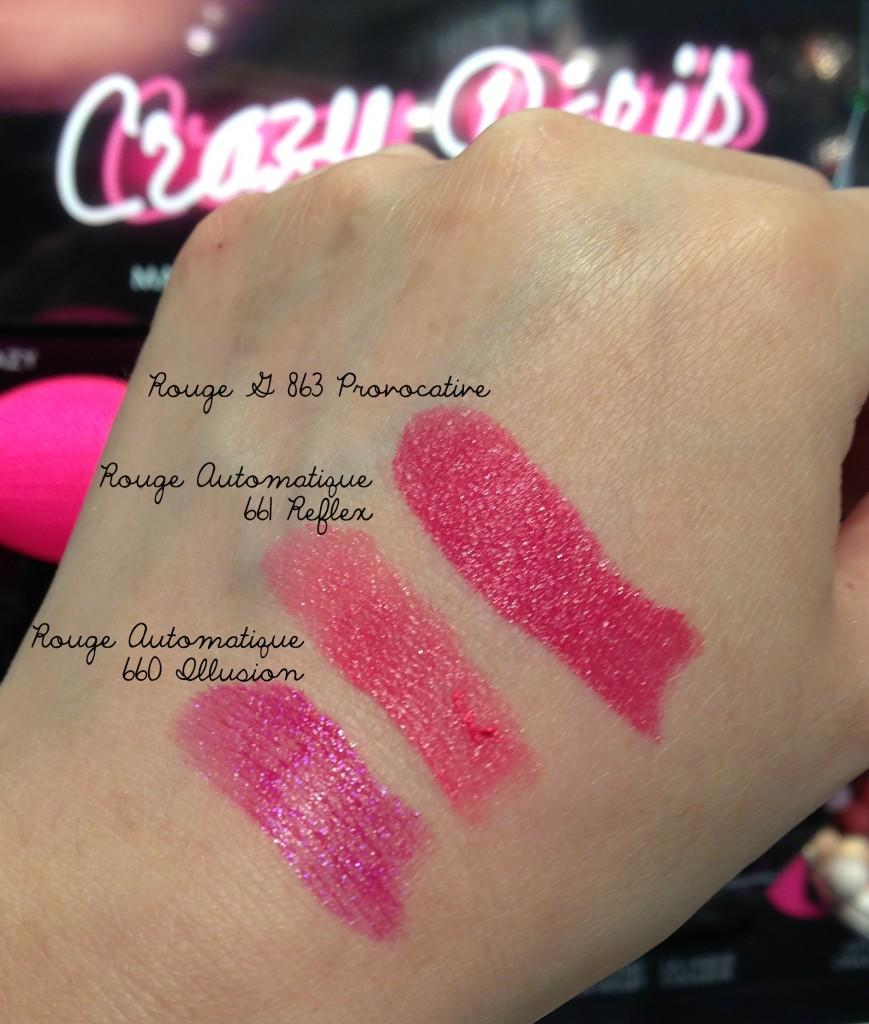 Guerlain Crazy Paris lipstick swatches