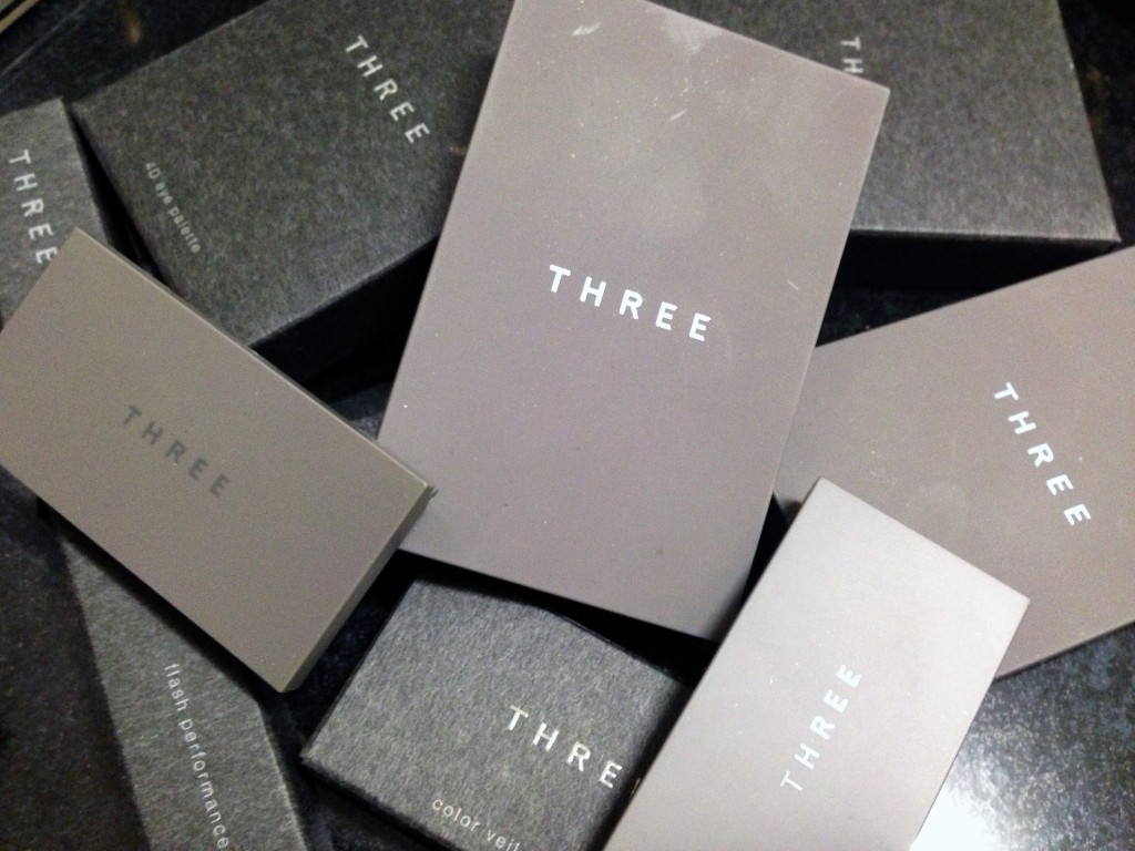 THREE Cosmetics packaging