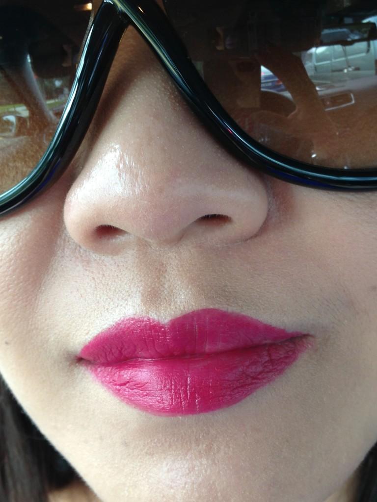 Urban Decay Revolution lipstick Catfight swatch