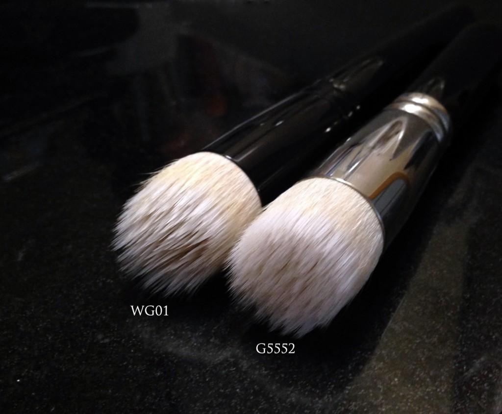 Wayne Goss 01 vs Hakuhodo G5552 brush head