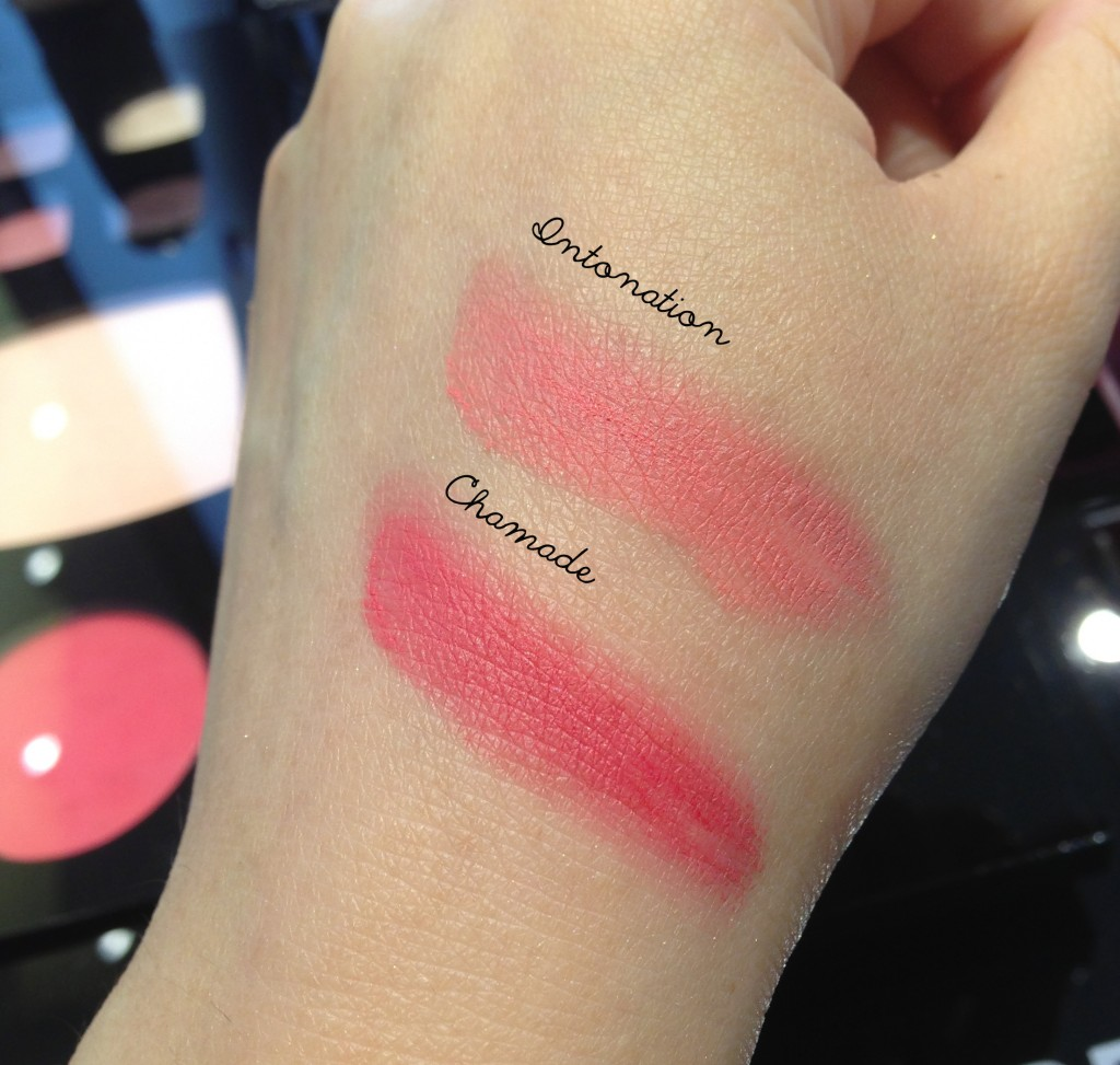 Chanel Chamade & Intonation swatches