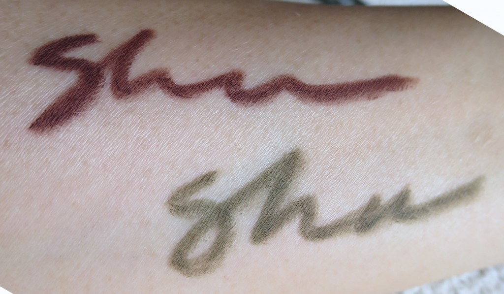 Shu Uemura drawing pencil swatches