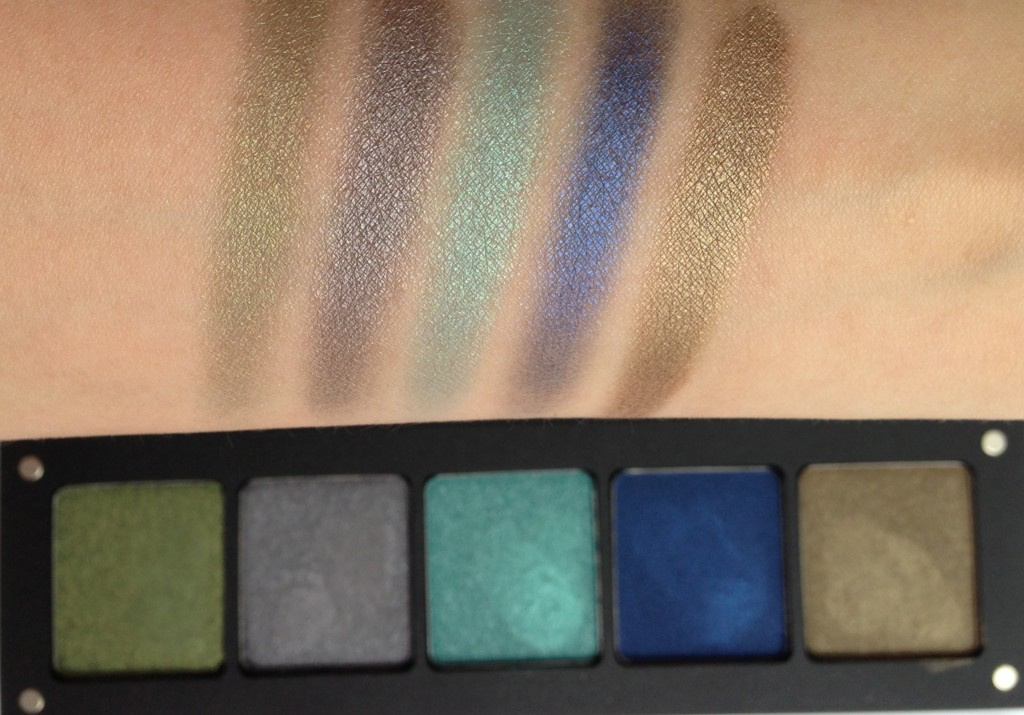 Inglot Freedom System eyeshadow palette swatches
