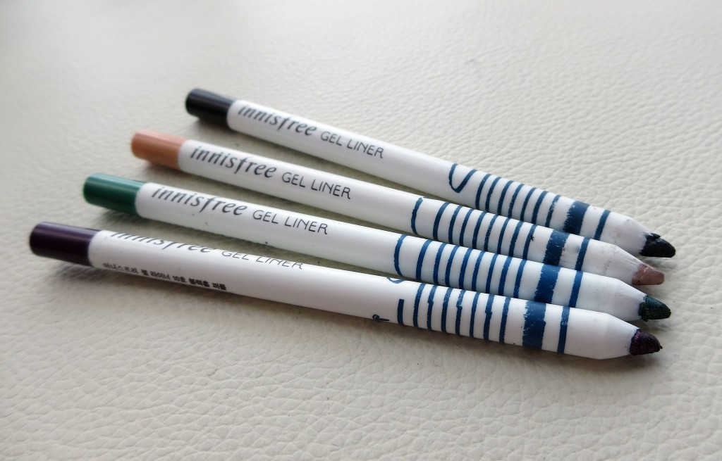 Innisfree x Jill Stuart gel eyeliner pencils