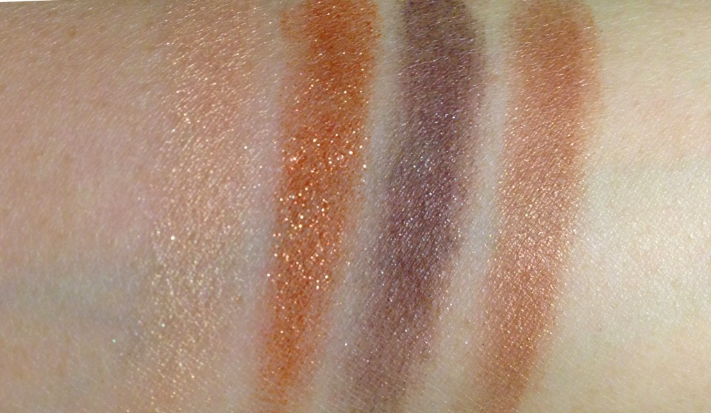 Tom Ford Cognac Sable Eye Color Quad swatches