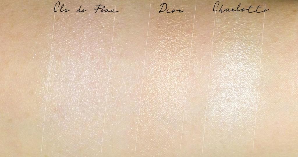 Diorskin Nude Tan Transat Edition Golden Shimmer Powder comparison swatches