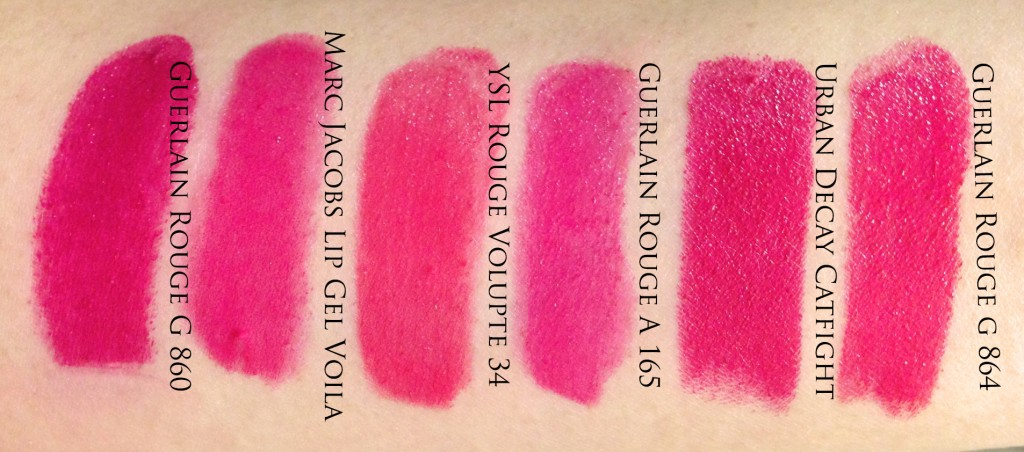 Guerlain Rouge G 864 dupe swatches