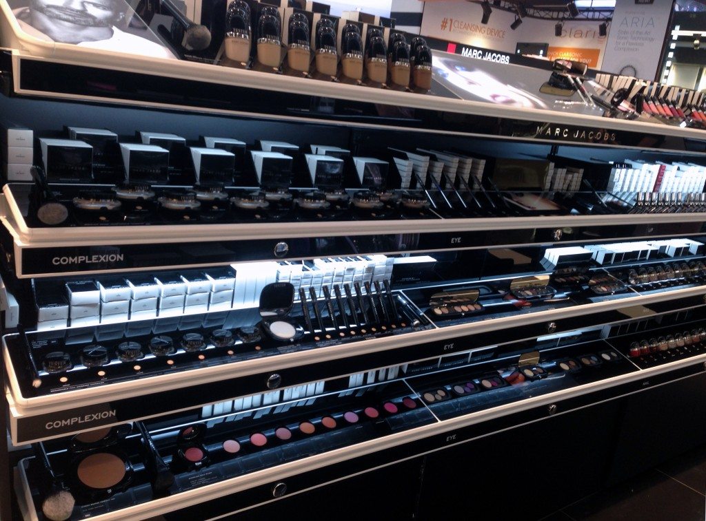 Marc Jacobs Beauty display at Sephora