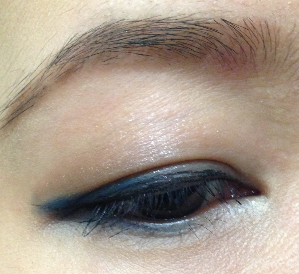 Tom Ford Unabashed Eye & Cheek palette EOTD blue as liner