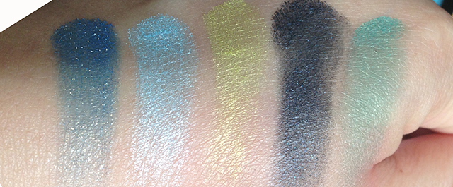 YSL Couture Palette 10 Lumieres Majorelle swatches