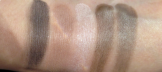 YSL Couture Palette 2 Fauves swatches