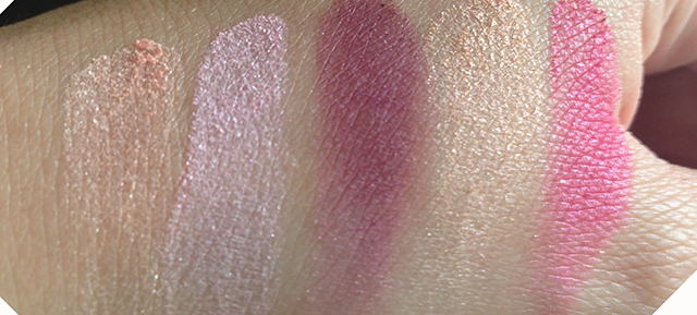 YSL Couture Palette 9 Love swatches