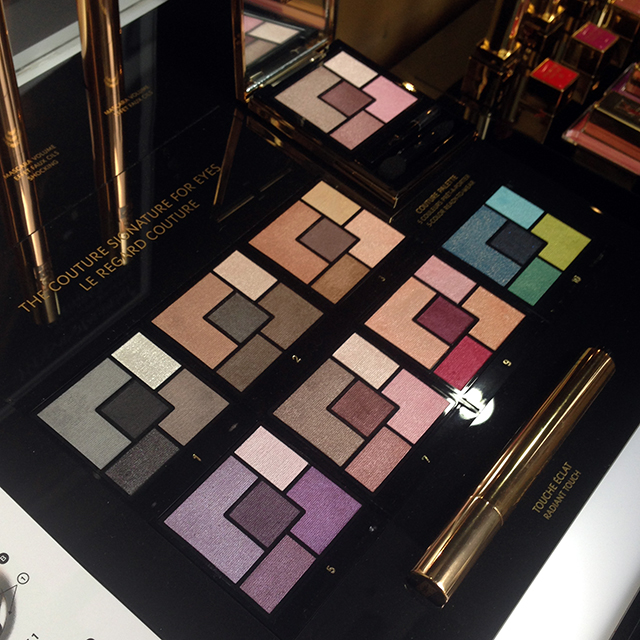 YSL Couture Palette display
