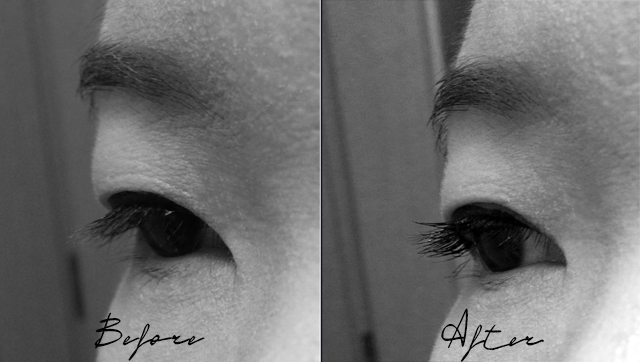 Dior It-lash before and after comparison shots