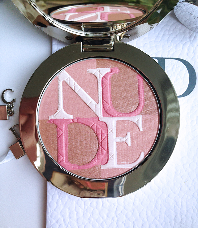 Diorskin Nude Shimmer Rose closeup