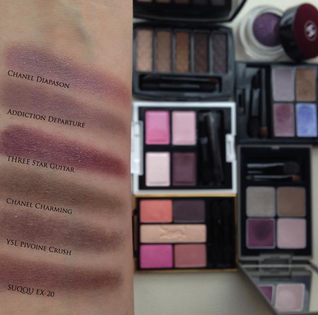SUQQU Blend Color Eyeshadow Ex-20 plum comparison
