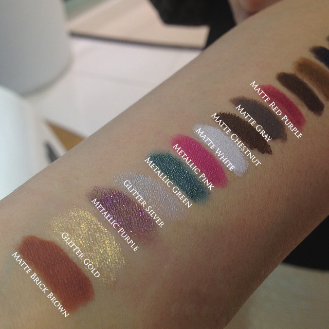 Shu Uemura Drawing Pencils swatches part 1