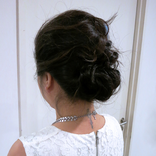 Updo for gala event