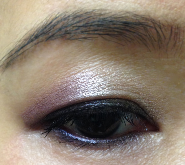 NARS Dual Intensity Eyeshadow EOTD (wet)