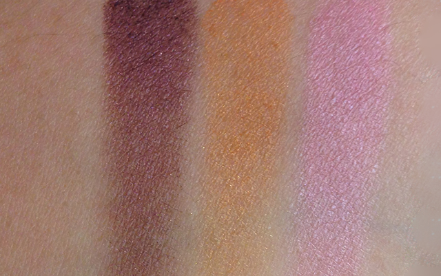 Shiseido FW2014 Luminizing Satin Eye Color Trio OR316 swatches