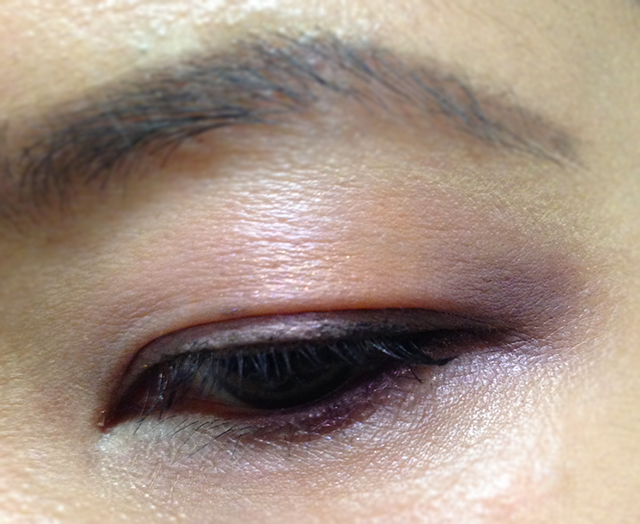 Shiseido FW2014 Luminizing Satin Eye Color Trio swatches OR316 EOTD