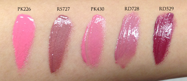 Shiseido FW2014 Lacquer Rouge swatches