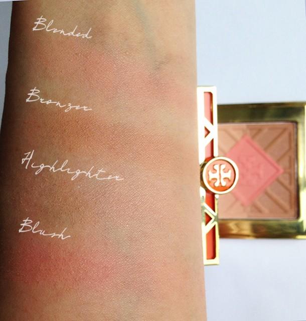Tory Burch Divine bronzer & blush swatches
