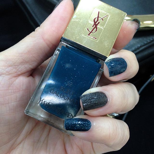 YSL La Laque Couture Les Graines 52 Blue Galuchat swatch
