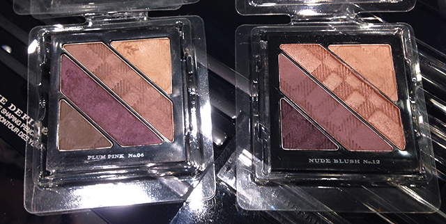 Burberry Nude Blush vs Plum Pink complete eye palettes