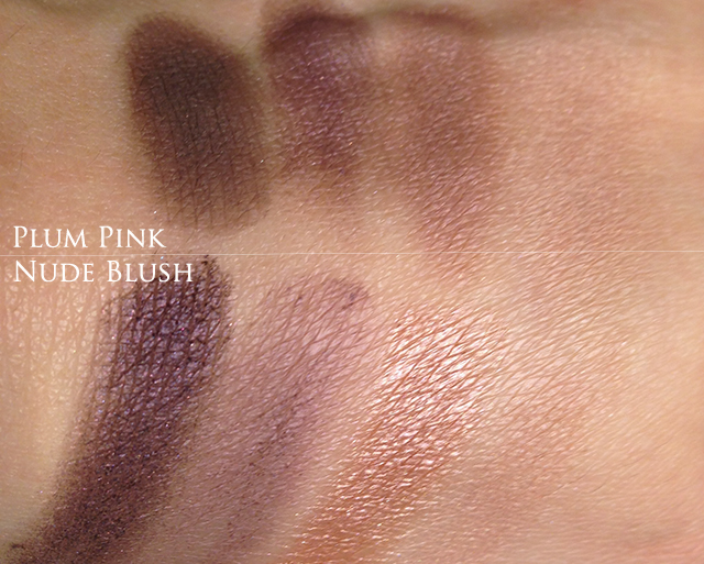 Burberry Complete Eye Palettes Nude Blush vs Plum Pink swatches